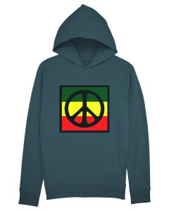 Peace and love rasta flag hoodie
